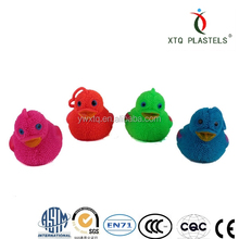 Hot selling colorful flashing animal duck puffer ball Fluffy interesting puffer toy