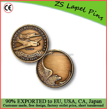 Custom top quality novelty gift P-51 Engravable Bronze Antique Challenge Coin