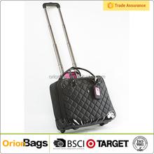 Women's wheeled trolley rolling tote bag wheels