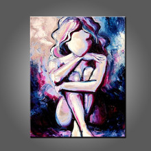 Wholesale High Quality Abstract Design Sexy Lady Pictures On Canvas
