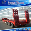 Best selling Truck trailer type and Steel material tri-axle heavy duty equipment transporter semi low bed trailer for sale
