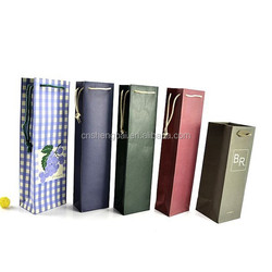 fashion wine bottle paper gift bag