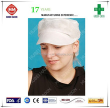 2015 hot sales products medical supplies red disposable peaked cap free sample