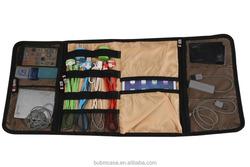 BUBM foldable Nylon Tablet USB Power Cable Storage Case Organiser Bag