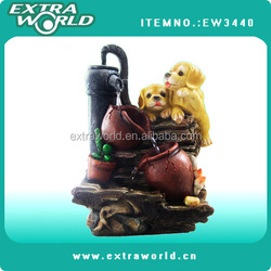 desktop crafts decoration mini fountain water indoor humidifier animal dog style