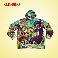 cusotm sublimation printing custom zip up hoodies