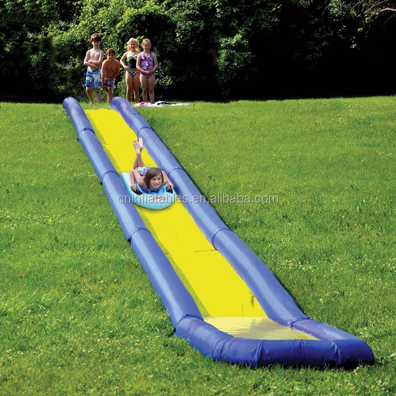 Inflatable Water Slide Safety Rules: Long Backyard Inflatable Water Slide