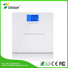 Personal Electronic Digital Bathroom Body Weight Scale, 400lb /180kg, Tempered Glass and clear large LCD display