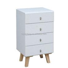 white color 4 drawers wooden storage livingroom furniture