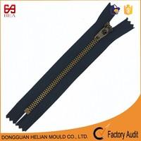 5yg square teeth semi auto lock slider metal zippers fashion for clothes