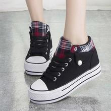 SAA1072 Korean women sneakers preppy style school shoes fashion high platform fancy lady canvas shoes
