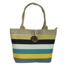 Spanish style blue meshed canvas beach bag, tote beach bag, rope handle beach bag
