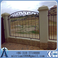 Hot sale exported wrought iron wire euro fence with post