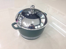 scola die-cast aluminum non-stick stock pot