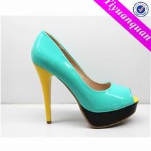 Cheap Middle-Aged Women Shoes Open Toe Platform High Heels