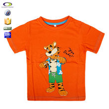 Cartoon printing t shirt goods for children clothes summer 2015 import from China