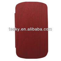 SPECIAL WOOD LINE SYNTHETIC LEATHER FLIP CASE PHONE CARRY COVER FOR BLACKBERRY Q10 HOUSING