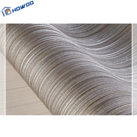 Howoo wall designs thick decoration stripe vinyl office wallpaper
