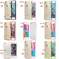 Ultra Thin Transparent Crystal Clear Hard TPU Phone Case For iPhone 6