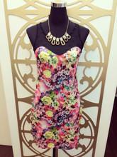 Summer hot sexy sleeveless lace top flower girl dress