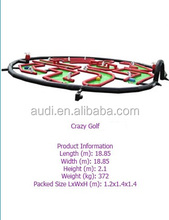 2014 hot sale inflatable crazy golf/inflatable sports games/inflatable games