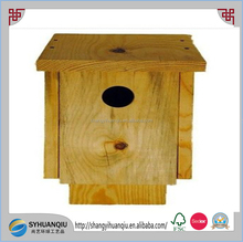 Unfinished Wood Wooden Pine Blue Bird House Birdhouse Brown New