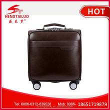 pu leather small trolley hand bag with low price 360degree universal wheel