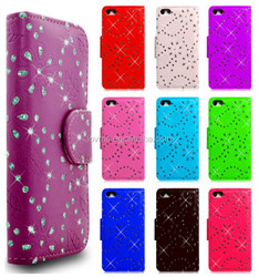 Diamond Book Wallet Flip Phone Case Cover For iPhone 6 Plus