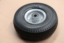 china manufacturer 14 inch solid rubber flat free pu foam filled wheelbarrow wheel 3.50-8