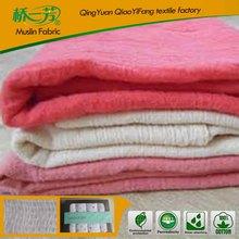 2015 fashion popular new design 100% organic cotton baby blankets, baby muslin blanket
