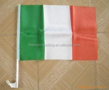 Ireland Flag Design Of The Car Mirror Flag Cover,Car Windsheild Cover .customer Can Specify The Size