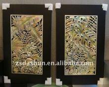 ds0108a hermosa pintura hojas interiores para el hogar decoración de la pared