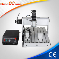 mini CNC milling machine 4 Axis 3040Z-DQ for expoxy,aluminum drilling and engraving