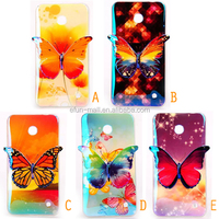 3D Colorful printed drawing butterfly TPU Case for Nokia N 630, cell phone case for Nokia N 630 case