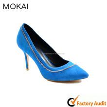 MK037-12 Blue sexy platform leather women dress shoe