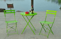 cheap metal foldable bistro set jardin furniture