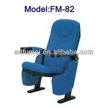 FM-82 Cheap price folding opera chair with cup holder