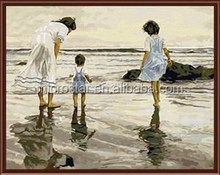 Family Time Style Diy Oil Painting Digital Canvas Painting