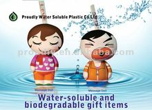 water-soluble and biodegradable Message Doll. Professional manufacturer of only water-soluble materials.