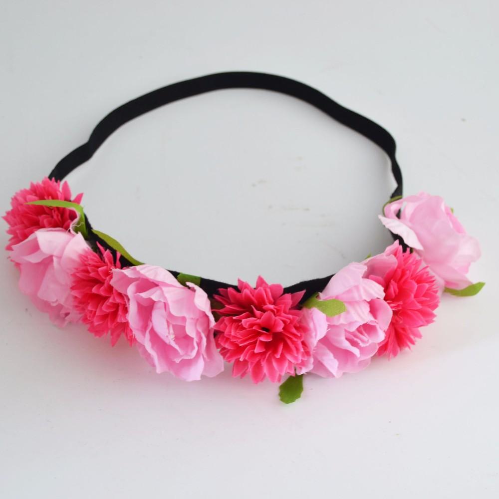 New Design Hawaiian Beach Blue Artificial Multilayer Flower Crown