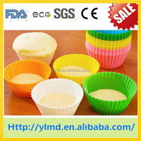 2015 style eco-friendly greaseproof mafen cup silicone cake mold cup cake box cup cake maker