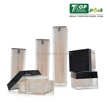 Superior Square Series Acrylic 15ml 30ml 50ml Airless Cosmetic Bottle 30g 50g 80g cream jar