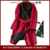 Custom made handwork cashmere ladies overcoat designs