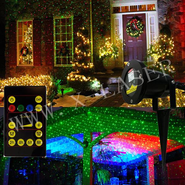 New Star Shower Outdoor Laser Christmas Lights For Xmas Halloween Thanksgivin