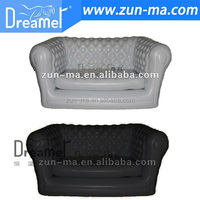 Modern black and white inflatable lazy sofa image