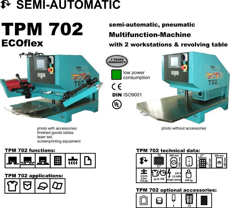 De múltiples funciones de grabación en relieve de la máquina de impresión para textil, De cuero, Dril de algodón, Vaqueros, Paño grueso y suave 1