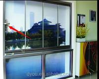 High quality well design aluminium frameless sliding windows