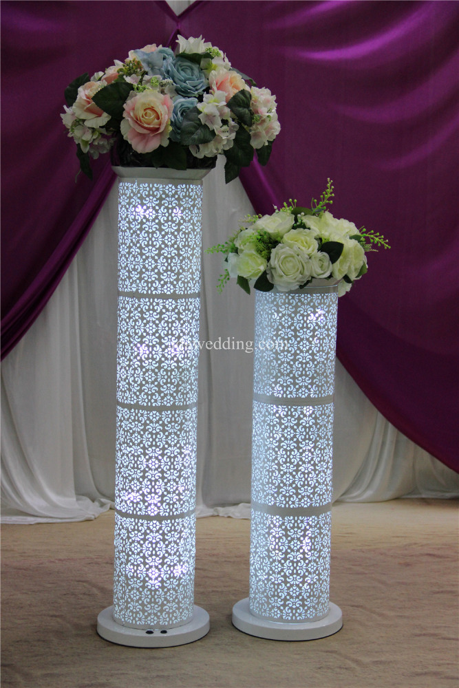 Wholesale roman pillar for wedding table flower vase for Stand decoration