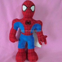 custom design soft plush spiderman toys