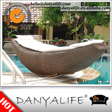 DYLG-D1136 Danyalife High End Customized Aluminum Frame Synthetic Wicker Lounge Chair, Garden Lounge Chair